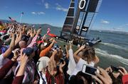Oracle crosses the finish line to complete its defense of the America's Cup.