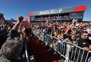 By the final race, crowds packed the America's Cup Village.