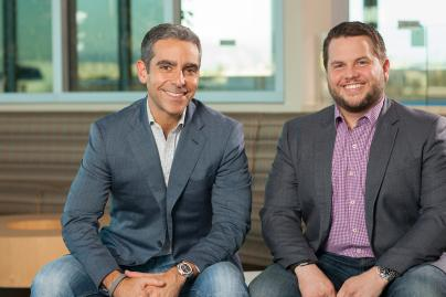 PayPal president David Marcus, left, with Braintree CEO Bill Ready.