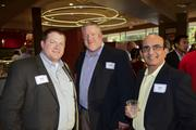 Joseph Massey, David Peterson,  Usman Ghani networked at the After Hours event.
