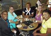 Anand Houston, Nikisha Carden, Ramona Logan, Kim Hill, Chanelle Yarber at the DBJ's After Hours event.