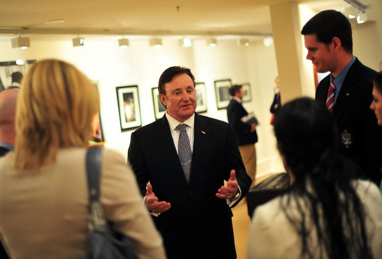 Racing CEO and businessman Richard Childress during High Point University's Entrepreneurship Roundtable event Wednesday.
