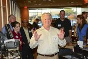 Rob Goldblatt, COO of Uno Due Go, greets attendees of the DBJ's After Hours event at the Plano restaurant.