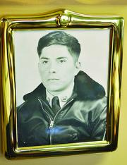Zee Ferrufino in the Bolivian Air Force as a young man.