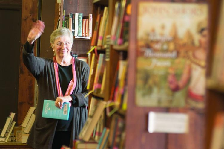 Joyce Meskis, owner of Tattered Cover book stores, says both her parents read a lot and she found joy in books at an early age when her mother would take her to the library.