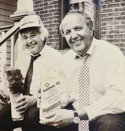 Eddie and Dick Robinson of Robinson Dairy in 1987.
