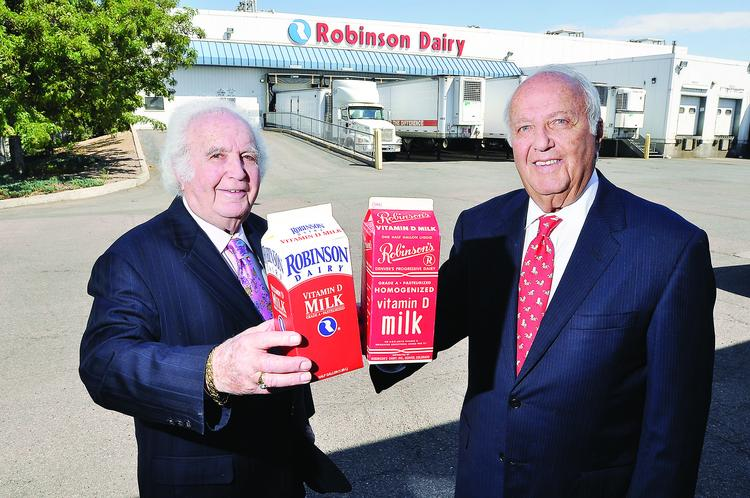 Dick and Eddie Robinson of Robinson Dairy LLC  were the fourth generation to run the Denver dairy business their great-grandfather, Louis Robinson, started in 1885.  They sold the company in 1999.