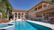 A heated pool and spa are also features of the estate.