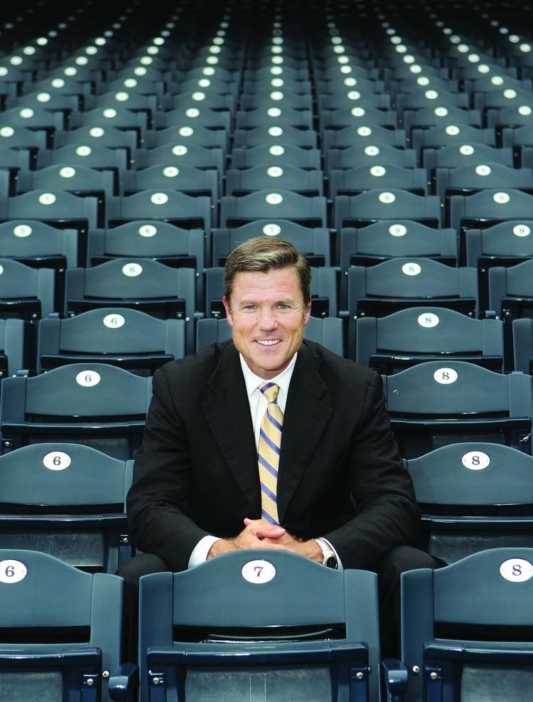 Pittsburgh Pirates President Frank Coonelly sits in the stands at PNC Park. He left the Office of the Commissioner of Baseball for the Pirates in 2007.