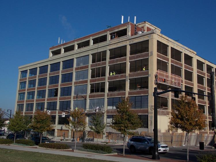 Work is continuing to rehab the former Secur-It building downtown.