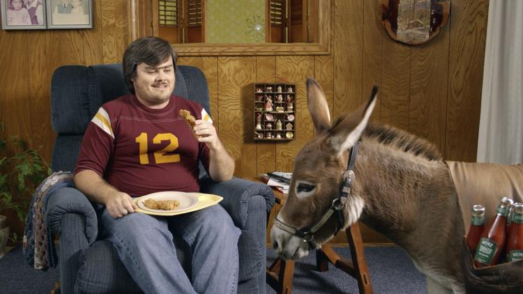 Heinz and ad agency Cramer-Krasselt have introduced a donkey named Lil' Kicker to promote jalapeno-flavored ketchup.