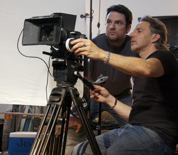 JIm Bruce, left, directed Money for Nothing, a documentary that premieres at the Mayan Theatre Friday.