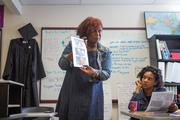 Mia Johnson teaches a GED class for women at Community Works, a neighborhood resource center run by Bon Secours Hospital in West Baltimore.