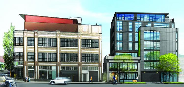 Seattle developer Liz Dunn, principal of Dunn + Hobbes, plans this five-story, mixed-use office building in Seattle's Capitol Hill neighborhood near 11th and East Pike Street. The project contains two elements: a new five-story building at 1424 11th Ave., and The Mews -- an open-air connection between 11th Avenue and a courtyard, with shops and restaurants lining the passage to the courtyard. The new building will have 7,700 square feet of retail space, 21,000 square feet of office space and three residences.
