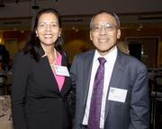 ABAS past presidents Rebecca Westmore and Richard Uno pose at the annual Asian/Pacific Bar Association of Sacramento awards dinner.