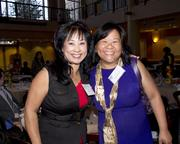 Assemblyman Roger Dickinson's district representative Susie Low and My Sister's House Executive Director Nilda Valmores pose at the annual Asian/Pacific Bar Association of Sacramento awards dinner.