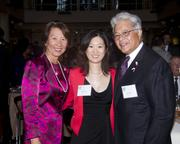ABAS Law Foundation CFO/Treasurer Jeri Paik, ABAS Immediate Past President Angela Lai and Sacramento City Unified School District 2nd Vice President Darrel Woo pose at the annual Asian/Pacific Bar Association of Sacramento awards dinner.