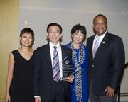 ABAS President Kara Ueda, ABAS President's Awardee U.S. District Judge Anthony W. Ishii, Jeanette Ishii and United States District Judge Morrison England pose at the annual Asian/Pacific Bar Association of Sacramento awards dinner.