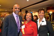 Honoree Faye Coleman, center, with her husband, Milton, left, and Angela Dingle at the 2013 Minority Business Leader Awards.