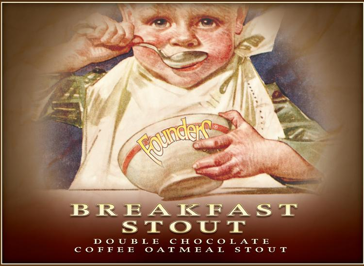 The label on Founders Brewing Breakfast Stout depicts a child eating oatmeal, and that's gotten it banned in New Hampshire.