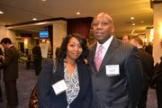 Crystal Anderson, left, and Fred Griffin at the 2013 Minority Business Leader Awards.