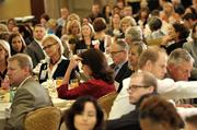 Attendees enjoy lunch and the panel discussion