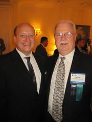 The Washington Building Congress celebrated its 75th anniversary with a Bull & Oyster Roast, held Sept. 26 at the Columbia Country Club. Dan Buckley of Flippo Construction, left, with WBC Chairman Jim Klein of The JBG Cos.