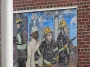 A mural outside the fire station at 4th and Arch Streets in Old City.