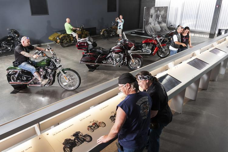 """Motorcycle displays that include a """"tsunami bike"""" helped make the Harley-Davidson Museum one of the top Milwaukee-area attractions this year."""