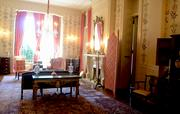 """The Ladies' Parlor is decorated with Southern antiques and floral motifs. Franklin Delano Roosevelt stayed as a guest in this room in 1929 and later remarked that North Carolina had """"the most beautiful governor's residence interior in America."""""""