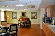 Each floor of the Kansas Masonic Home's assisted living wing includes smaller kitchen areas and features artwork from local and regional artists.