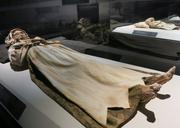 Veronica Orlovitz, one in a group of 18th century mummies discovered in a forgotten church crypt in Hungary in 1994,was part of the display in the European section of the Mummies of the World exhibit in Baltimore.