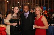 Leadership Arlington held its eighth annual Monte Carlo Night at Reagan National Airport on March 9. From left, Megan Luke of Bean Creative, Bobby Wright of Virginia Heritage Bank and Pam Wright.