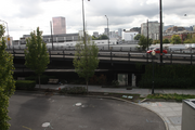The Right 2 Dream Too camp would be under the Broadway Bridge, seen here from the deck of Ziba, a Pearl District design firm.