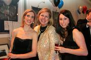 Leadership Arlington held its eighth annual Monte Carlo Night at Reagan National Airport on March 9. From left, Melissa Impastato of Clark Construction, Betsy Frantz of Leadership Arlington and Jeanine Maier.