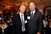 Yaron Brook, executive director of the Ayn Rand Institute, left, and David Sokol, chairman and chief executive of Teton Capital LLC., attend the Ayn Rand Institute dinner.
