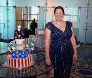 Occasionally Cake of Old Town Alexandria donated more than $6,000 of cake and cookies to support the servicemen and women at the USO-Metro Annual Awards Ceremony, held at the Renaissance Arlington Capital View Hotel in Arlington. Shown here, Sabrina Campbell of Occasionally Cake.