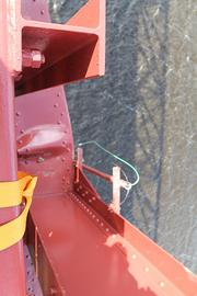 The strength of structural steel on the Mathews Bridge was compromised when a Navy ship struck it, the DOT said.