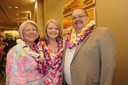 Laura, Kammie and Whit Shaw, president and CEO of American City Business Journals, at PBN's 50th anniversary gala at the Hilton Hawaiian Village Waikiki Beach Resort.
