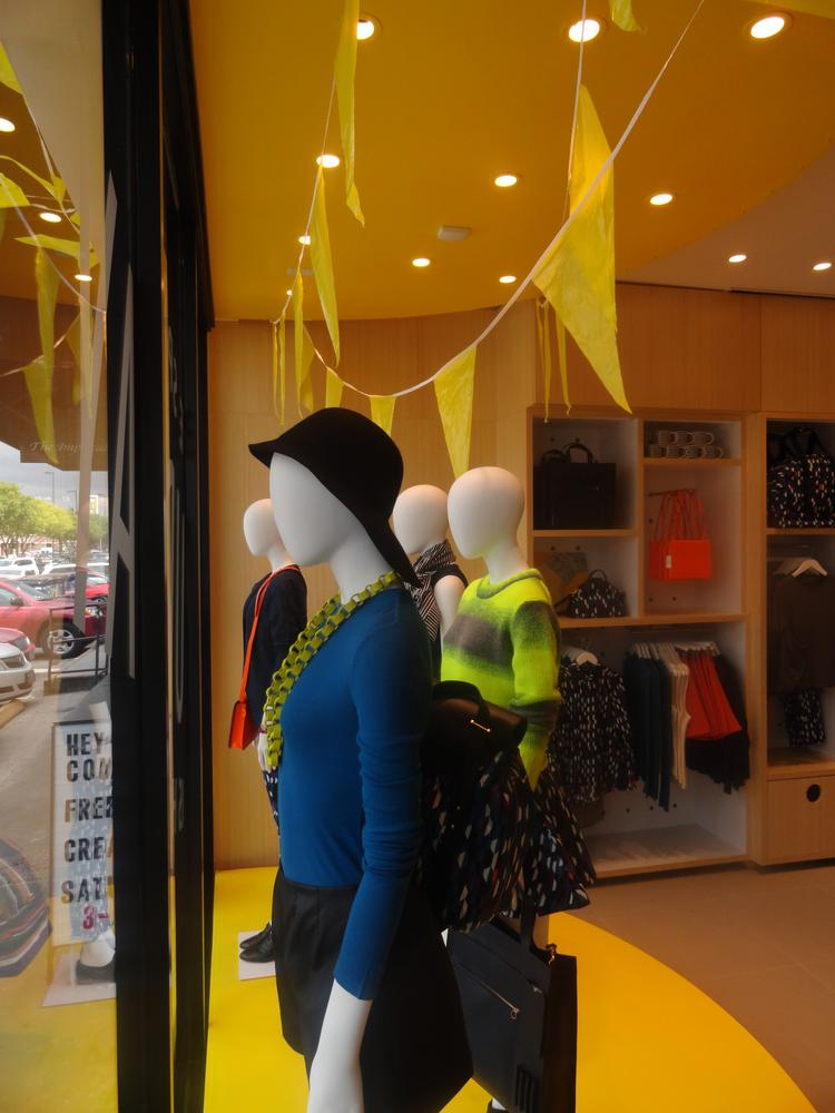 Kate Spade Saturday looks out onto University Boulevard, a main shopping street in Rice Village.