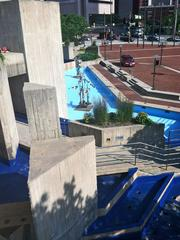The Brutalist-style fountain at McKeldin Plaza could be demolished soon.