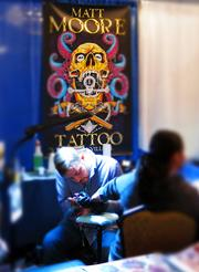 Matt Moore was one of the many artists at the 2013 Jacksonville Tattoo Convention.