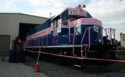 Florida East Coast Railways Co's newly painted locomotive #436 is seen on the FEC's Bowden Yard on Monday, Sept. 30, 2013.