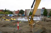 A new residence hall is under construction on the southeast corner of the Oregon State campus in Corvallis.