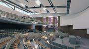 The Straub Hall renovation at the University of Oregon includes a 500-plus seat lecture hall.