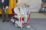 A wax likeness of Col. Harland Sanders was on display. It rolled around the festival in a remote-controlled wheel chair.