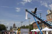 """Attendees could ride the one-person roller coaster, which was known as """"The Device."""""""
