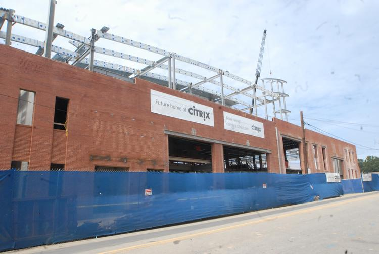 Citrix is making progress on its new building in the Warehouse District.