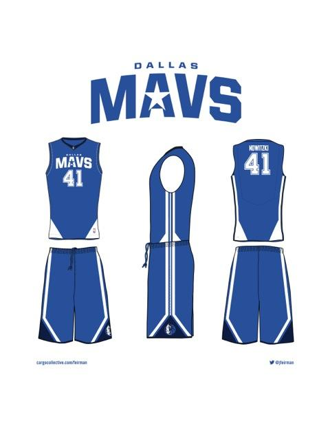 reputable site 425c3 89b8e Mark Cuban's crowdSpring connection in new Mavs uniforms ...