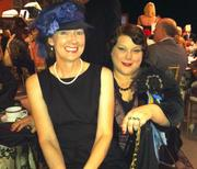 Mimi Ramsey (left) and Beck Hallman fit right in with the vintage theme of the Museum of Flight gala on Sept. 27.